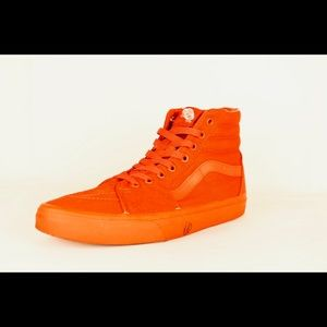 d2b5564d992081 Vans Off the Wall All Red High Top Size 9.5 M 11 W